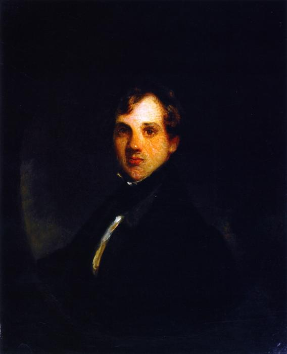 Portrait d Horatio Seymour, 1835 de James Edward Freeman (1808-1884, Canada) | Reproductions De Peintures James Edward Freeman | WahooArt.com