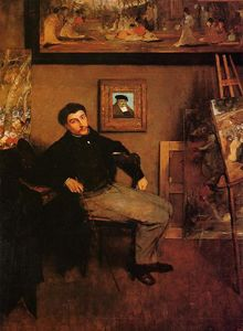 Edgar Degas - Portrait de James Tissot