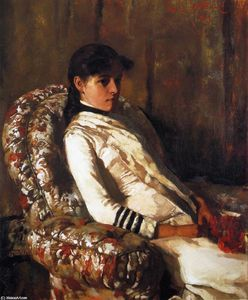 Edmund Charles Tarbell - portrait de mme . Tarbell ( aussi une Fille )
