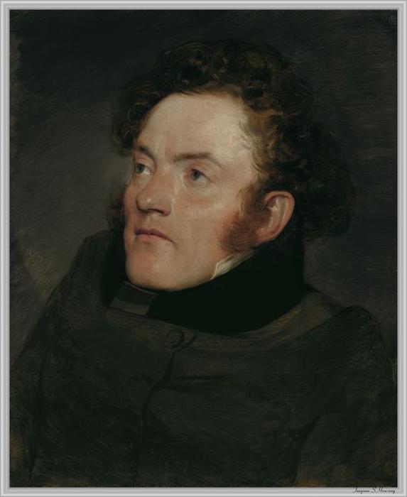 Portrait de Peter Fendi, huile sur toile de Friedrich Von Amerling (1803-1887, Italy)