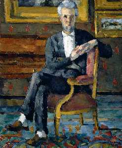 Paul Cezanne - Portrait de Victor Chocquet, assis