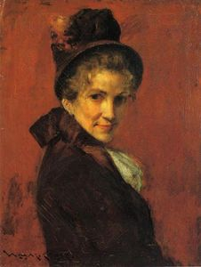 William Merritt Chase - portrait d-un femme