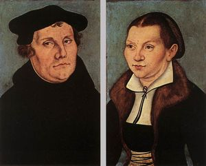 Lucas Cranach The Elder - Portraits de Martin Luther et Catherine Bore