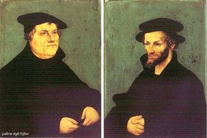 Lucas Cranach The Elder - Portraits de Martin Luther et Melanchthon