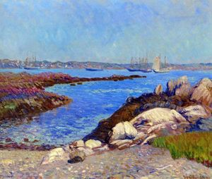 William James Glackens - Portsmouth Port , le new hampshire