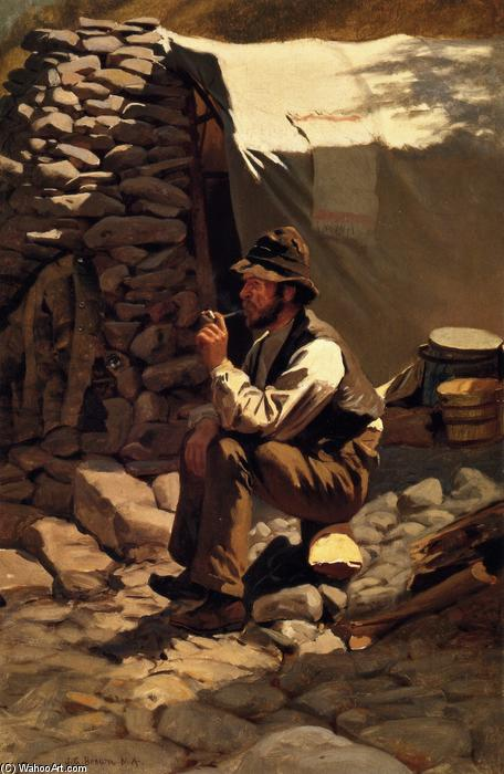 Le prospecteur, 1879 de John George Brown (1831-1913, United Kingdom) | Reproductions De Qualité Musée | WahooArt.com
