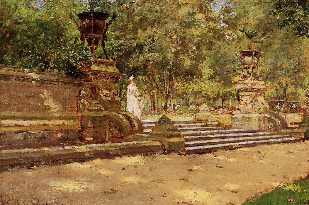Prospect Park, Brooklyn, 1887 de William Merritt Chase (1849-1916, United States) | Reproductions D'art William Merritt Chase | WahooArt.com