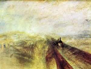 William Turner - ferroviaire vapeur et ​​ hâte à l accompli Occidental chemin de fer