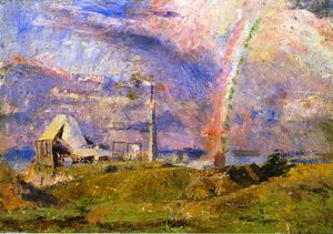 Frederick Mccubbin - Le Rainbow ( aussi connu as Rainbow over Burnley )