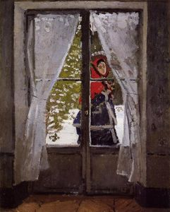 Claude Monet - le rouge Foulard , portrait de madame Monet