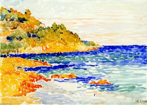 Henri Edmond Cross - rouge rocks à le Trayes