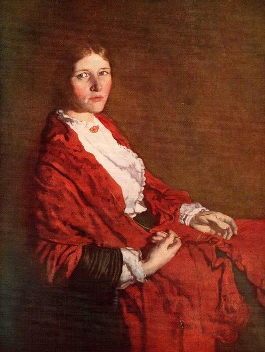 Le Red Scarf de William Newenham Montague Orpen (1878-1931, Ireland)