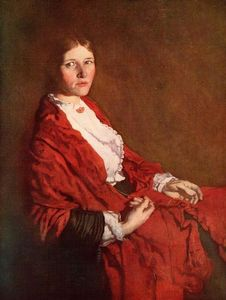 William Newenham Montague Orpen - Le Red Scarf
