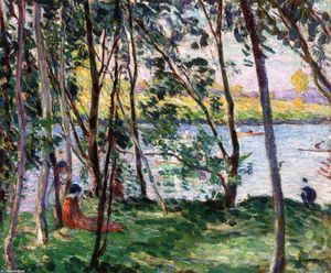 Henri Lebasque - Rest on le Banks of le yaudet