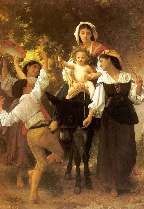 Retour de la Moisson, huile sur toile de William Adolphe Bouguereau  (achat Fine Art Poster encadré William Adolphe Bouguereau)