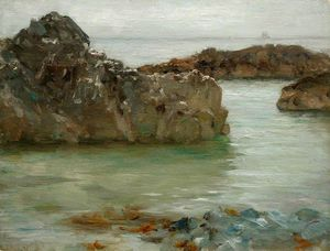 Henry Scott Tuke - Rochers à Newporth