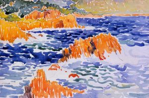 Henri Edmond Cross - Rochers au Trayas