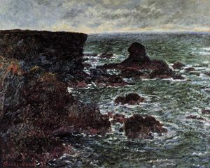 Claude Monet - côte rocheuse et le rocher du lion , Belle-Ile