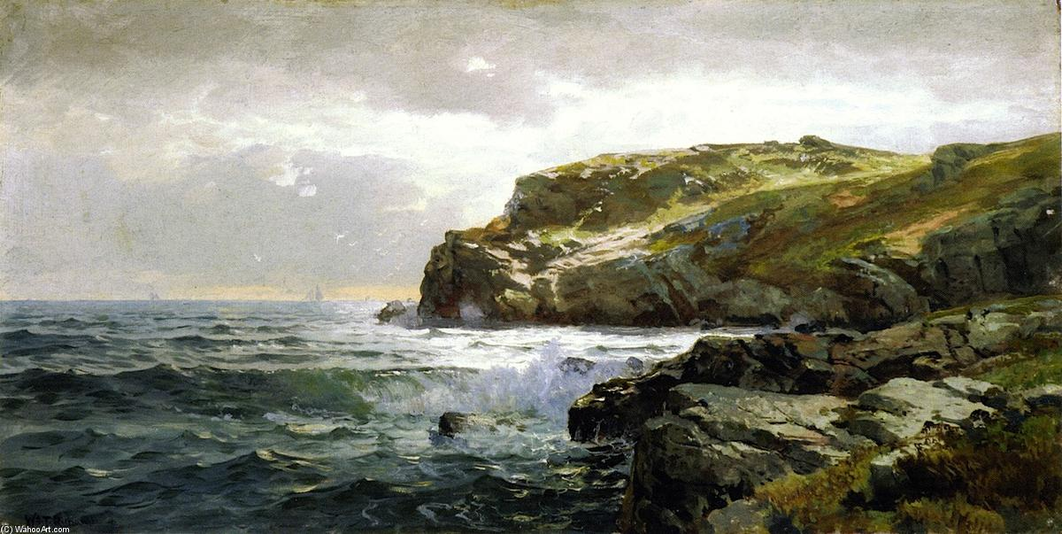 Achat Reproductions D'œuvres D'art | Littoral Rocky de William Trost Richards (1833-1905, United States) | WahooArt.com