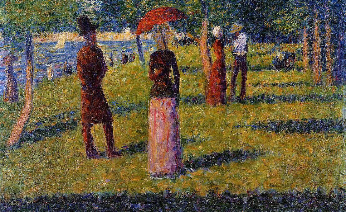 Le Rope-Colored Jupette, 1884 de Georges Pierre Seurat (1859-1891, France) | Copie Tableau | WahooArt.com