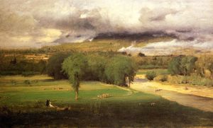 George Inness - Sacco Ford: Conway Meadows
