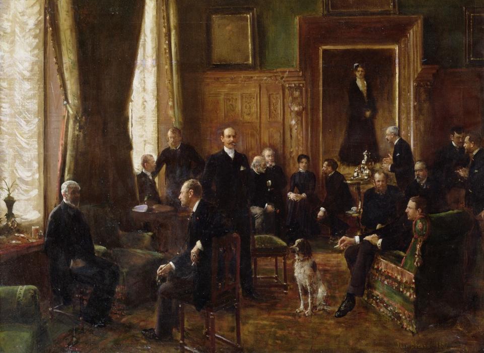 Le salon de la comtesse potocka 1887 de jean georges - Le salon de la photo ...