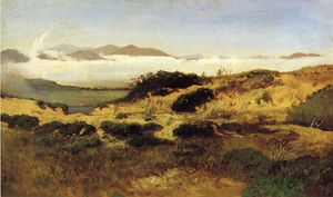 William Keith - Sand Les dunes and Fog , San Francisco