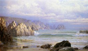 William Trost Richards - paysage marin le long  la  falaises