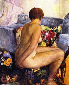 Henri Lebasque - Nu assis