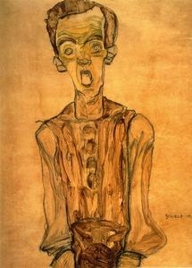 Egon Schiele - Self Portrait (8)