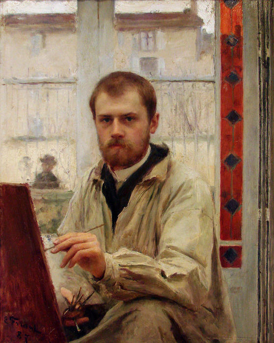 auto-portrait de Émile Friant (1863-1932, France) | Copie Tableau | WahooArt.com