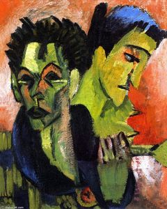 Ernst Ludwig Kirchner - Self-Portrait, Double Portrait