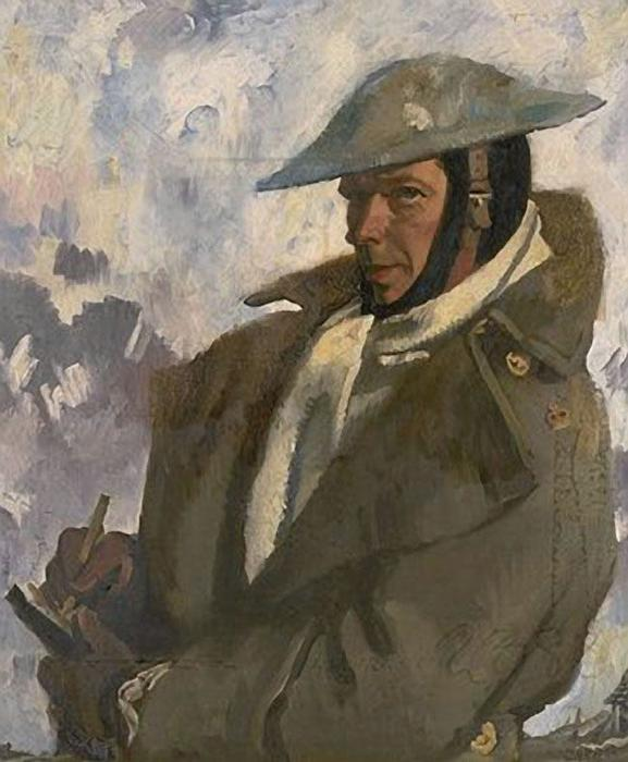 Self Portrait in Uniform, 1917 de William Newenham Montague Orpen (1878-1931, Ireland)
