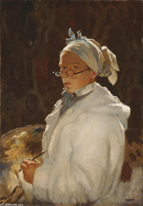auto portrait avec lunettes, 1907 de William Newenham Montague Orpen (1878-1931, Ireland) | Reproductions D'art De Musée William Newenham Montague Orpen | WahooArt.com
