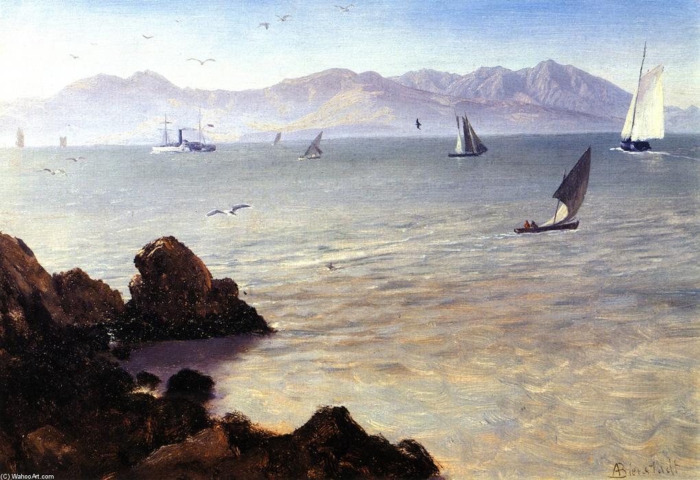 La baie de san francisco peinture de albert bierstadt for Albert tremblay meuble la baie