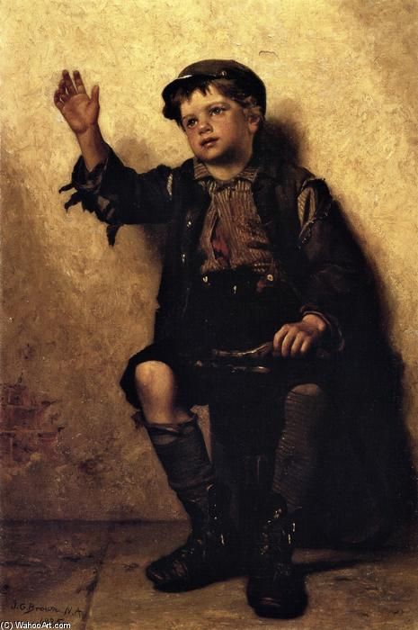Sir briller?, huile sur toile de John George Brown (1831-1913, United Kingdom)