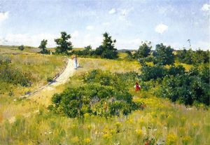 William Merritt Chase - Paysage Shinnecock avec  de figures