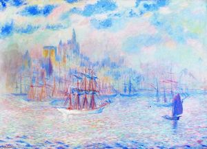 Theodore Earl Butler - Embarcations en port de new york
