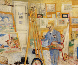 James Ensor - LE SQUELETTE peintre
