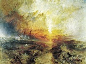 William Turner - Slavers Lancer Overboard morts et des mourants - Typhon venir sur