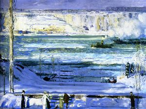 George Wesley Bellows - Snow-Capped Fleuve