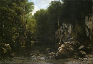 Gustave Courbet - null ( aussi connu as null null Ruisseau )
