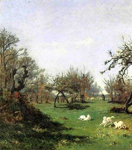 William Lamb Picknell - Printemps à Pont Aven