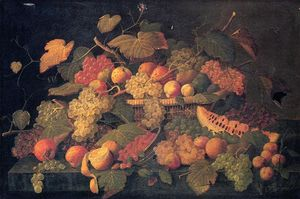Severin Roesen - Nature Morte une  abondance  de  fruits