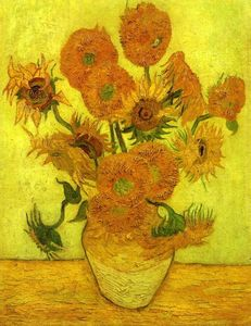 Vincent Van Gogh - Nature Morte pot  avec  quatorze  Tournesols