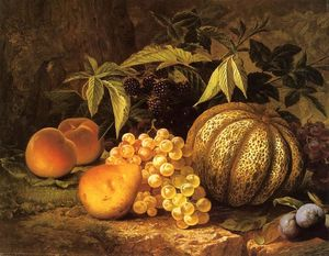 William Mason Brown - Nature morte avec Cantaloupe