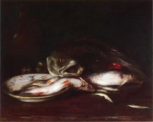 William Merritt Chase - nature morte avec poisson