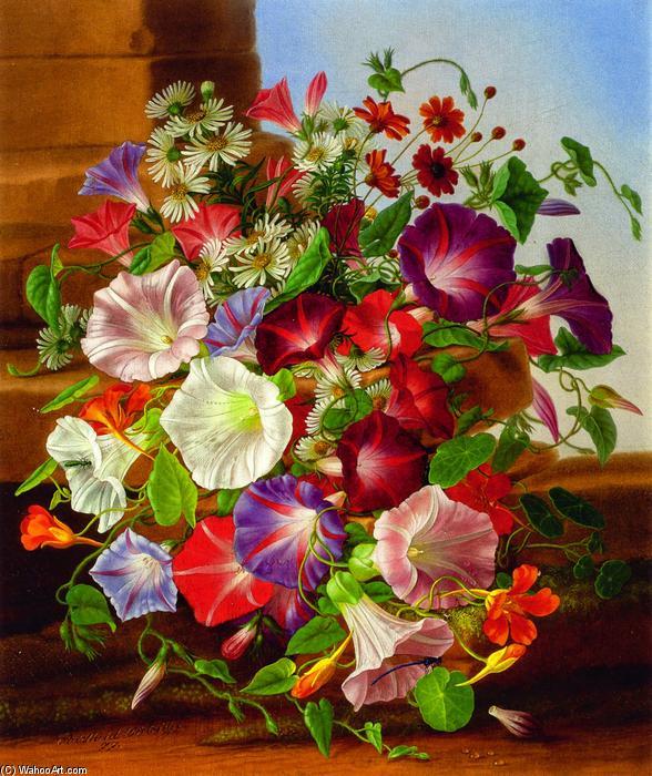 Achat Reproductions De Peintures Célèbres  nature morte avec fleurs, 1877  de Adelheid Dietrich (1803,1877,