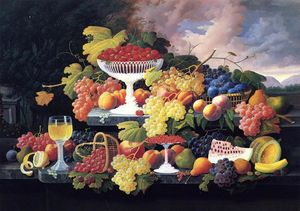 Severin Roesen - Nature morte avec fruits 14