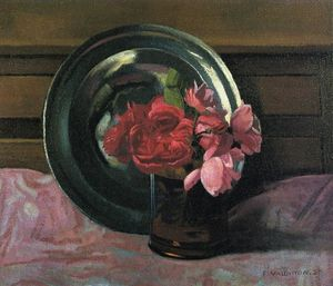 Felix Vallotton - nature morte avec roses